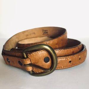 Tony Lama Ostrich Leather Tan Western Belt